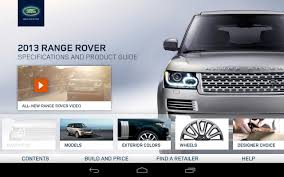 2013 range rover spec guide android apps on google play