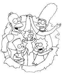 printable simpsons coloring pages colouring kids