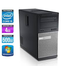ordinateur de bureau windows 7 occasion unité centrale occasion dell optiplex 990 tour i5 4go