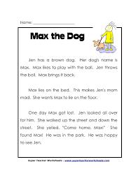 1st grade reading comprehension worksheets free printable worksheets