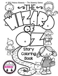 coloring story book wizard oz kennedy korral tpt