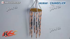 Decorate Dandiya Sticks Home by How To Make Jhumar Chandelier Out Of Waste Dvd Easy Craft For