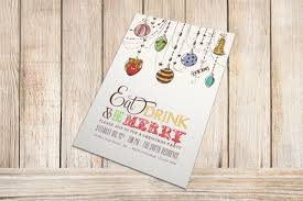 cool christmas party invitation wording and design with