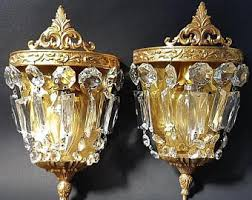 Vintage Crystal Sconces Etsy Your Place To Buy And Sell All Things Handmade