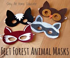 felt forest animal masks