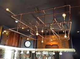 copper pipe light fixture geberit pipework turned into statement lighting fixture inside id