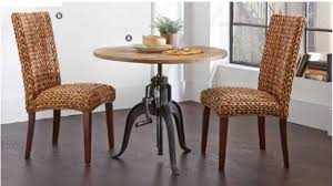 rustic solid adjustable dining table with crank 2 chair manassas 3pc galway dining collection