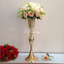 wedding flowers etc 2018 modern large metal gold silver flower vase decorative