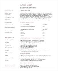 Resume Template For Receptionist Sample Resume Receptionist Receptionist Resume Sample Sample