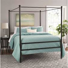 Metal Canopy Bed Mainstays Metal Canopy Bed Colors Sizes