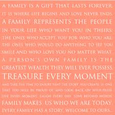 family is a gift frame