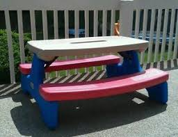 little tikes easy store picnic table little tikes large easy store picnic table