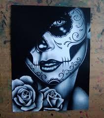 dia de los muertos sugar skull portrait by carissa