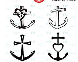 Chalkboard Love And Hope Anchors - anchor svg anchor clipart anchor svg anchor silhouette anchor