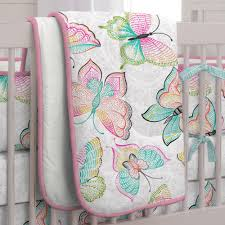 Dahlia Nursery Bedding Set by Bright Damask Butterflies Crib Bedding Carousel Designs