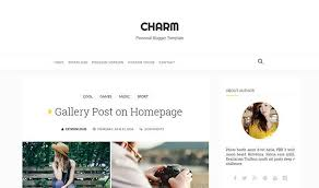 charm personal blogger template oddthemes