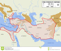 Persia Map Persian Empire Map Detailed Stock Image Image 8521871