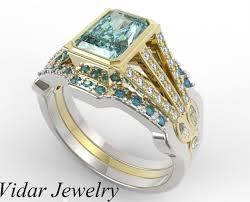 gold wedding rings sets 3 pcs wedding ring set vidar jewelry unique custom engagement