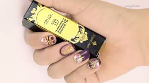 baroque nail art with baroque gel and baroque stickers step by