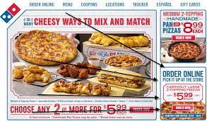 domino pizza hand tossed domino s 5 99 large two topping pizza fastfoodwatch com