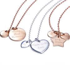 unique charm s personalised gold or silver unique charm chain necklace