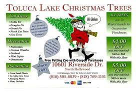 toluca lake christmas trees north hollywood burbank studio city