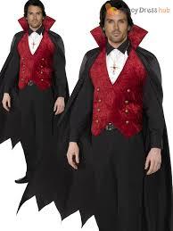 Dracula Costumes Halloween Mens Deluxe Count Dracula Vampire Costume Halloween Fancy