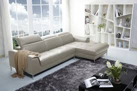 almond beige color italian leather sectional sofa by j u0026m furniture