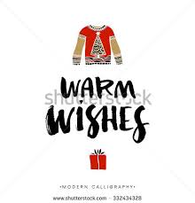 warm wishes calligraphy handwritten modern stock vector