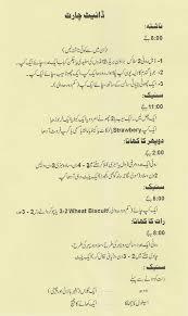 diet plan chart in urdu plus belle la vie pblv