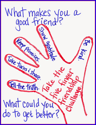 the corner on character friendship is in our hands