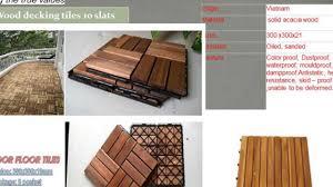 Waterproof Deck Flooring Options by How To Making Wood Deck Tiles Outdoor Flooring Tiles Youtube