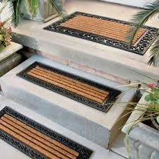 greco ridged rubber coir doormat u0026 stair treads outdoor