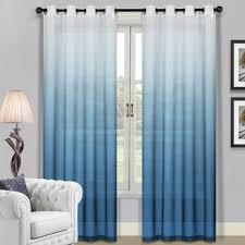 Blue Window Curtains Modern Curtains And Drapes Allmodern