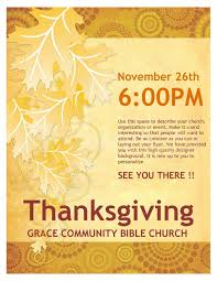 thanksgiving church flyer template flyer templates with the best