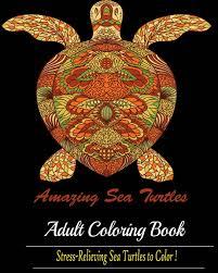 amazing sea turtles a blue dream coloring book designs