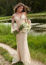 boho chic prom dress made of delicate lace style 99022 morilee