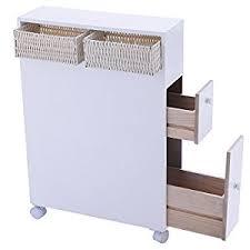 Rolling Bathroom Storage Cart by Amazon Com Tangkula Wood Floor Bathroom Storage Rolling Cabinet