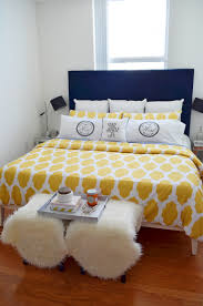 Navy White Bedroom Design Navy And Yellow Bedroom Decor Mod Max Glam