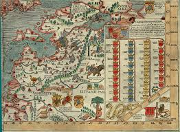 Scandinavia Map Section I Olaus Magnus 1539 Map Of Scandinavia Bell Library