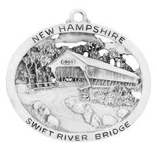 river covered bridge ornament