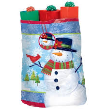 amascan gift sack frosty friends bag plastic