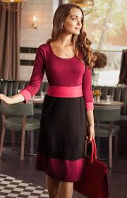colour block day dress berry wedding dresses evening wear and