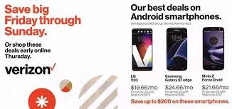 best deals for samsung galaxy s7 over black friday verizon black friday 2016 ad leaks with mobile deals