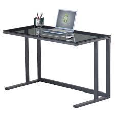 Glas Desk Jordan Black Glass Desk Staples