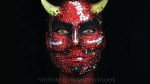 a full face of rhinestones devil style youtube