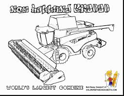 magnificent new holland combine tractor coloring pages with