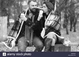 Photography Lovers Date In A Park Lovers On A Bench Stock Photo Royalty Free Image