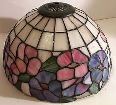 how to tea stain glass l shades stained glass l shades vintage leaded shade tiffany style pink