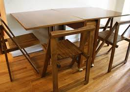 wooden fold down dining table is good for your home chocoaddicts